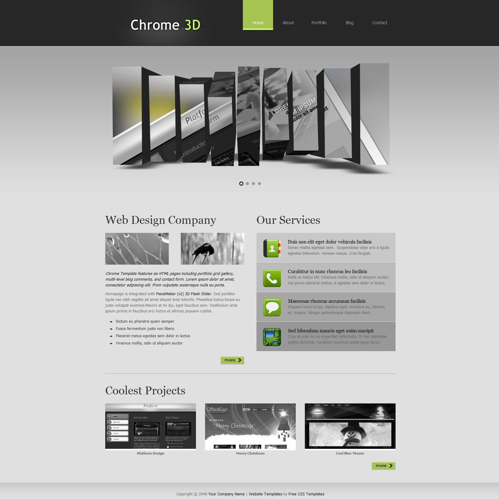 Chrome 3d Template Free And Premium Website Templates Themes