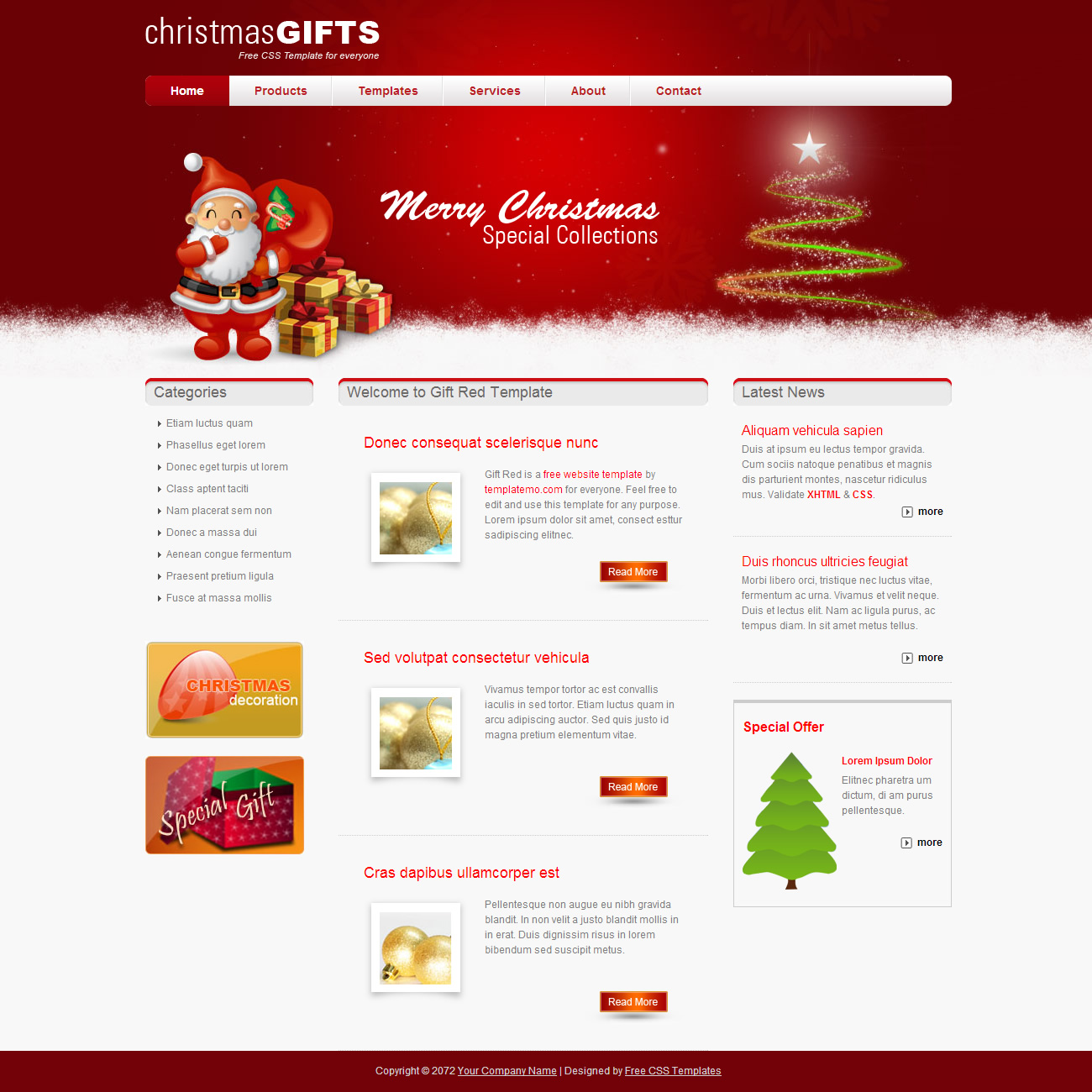 Gift Red Template