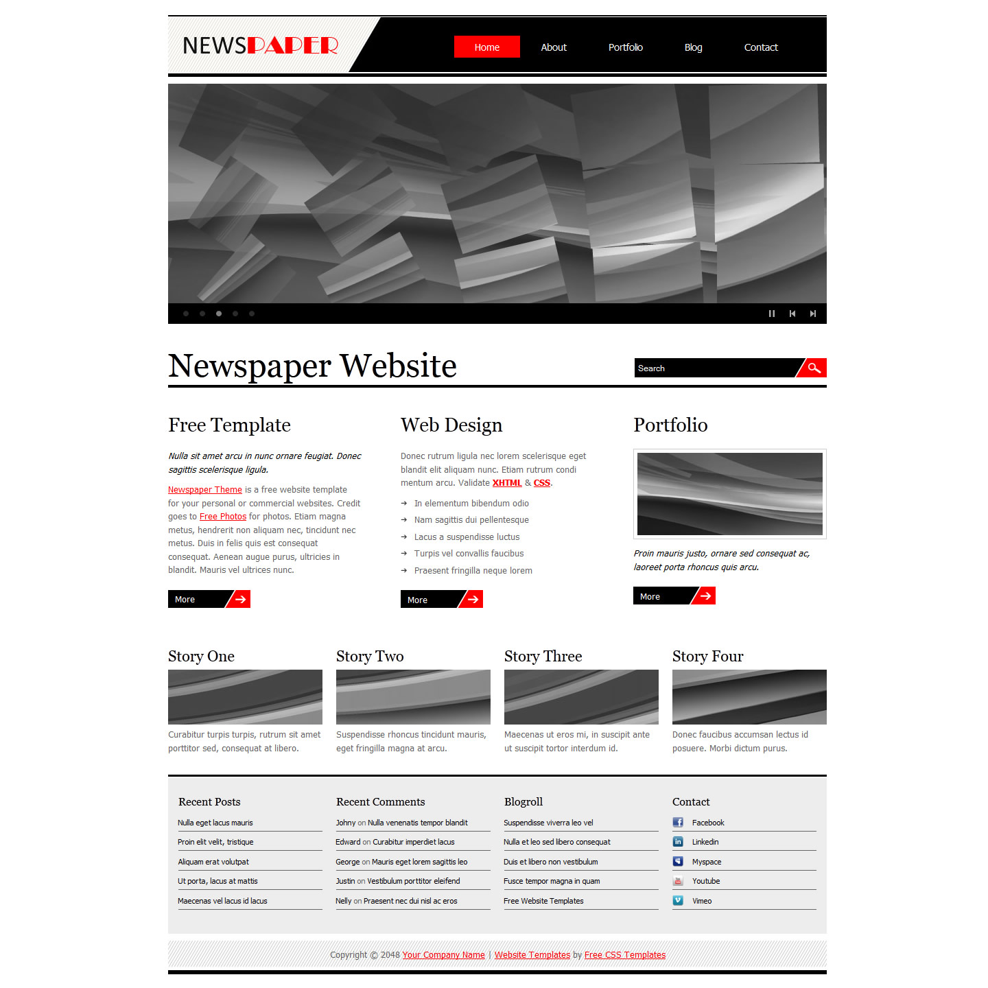 Newspaper Template Free And Premium Website Templates Themes