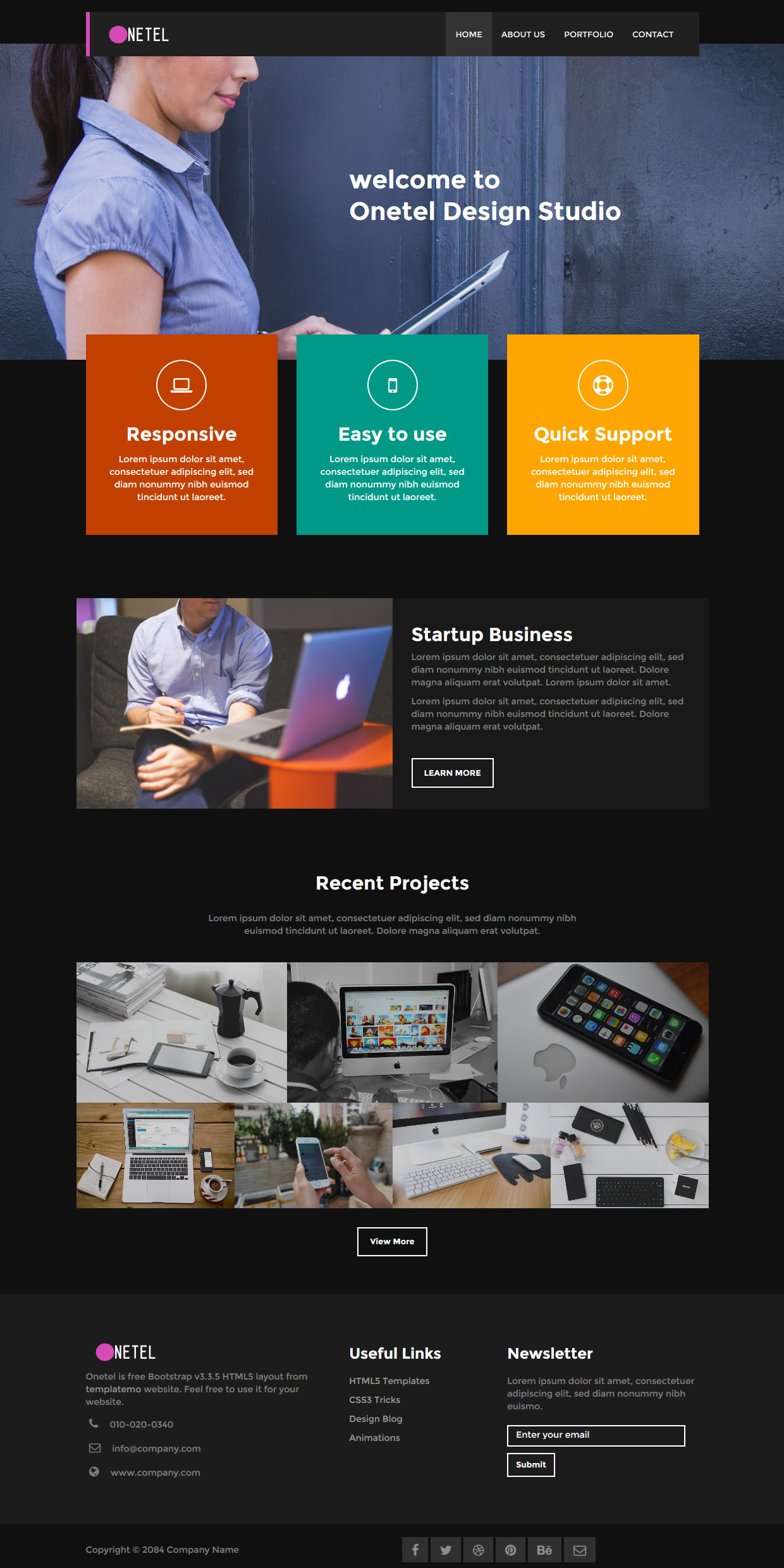 Onetel Template - Free and Premium Website Templates & Themes