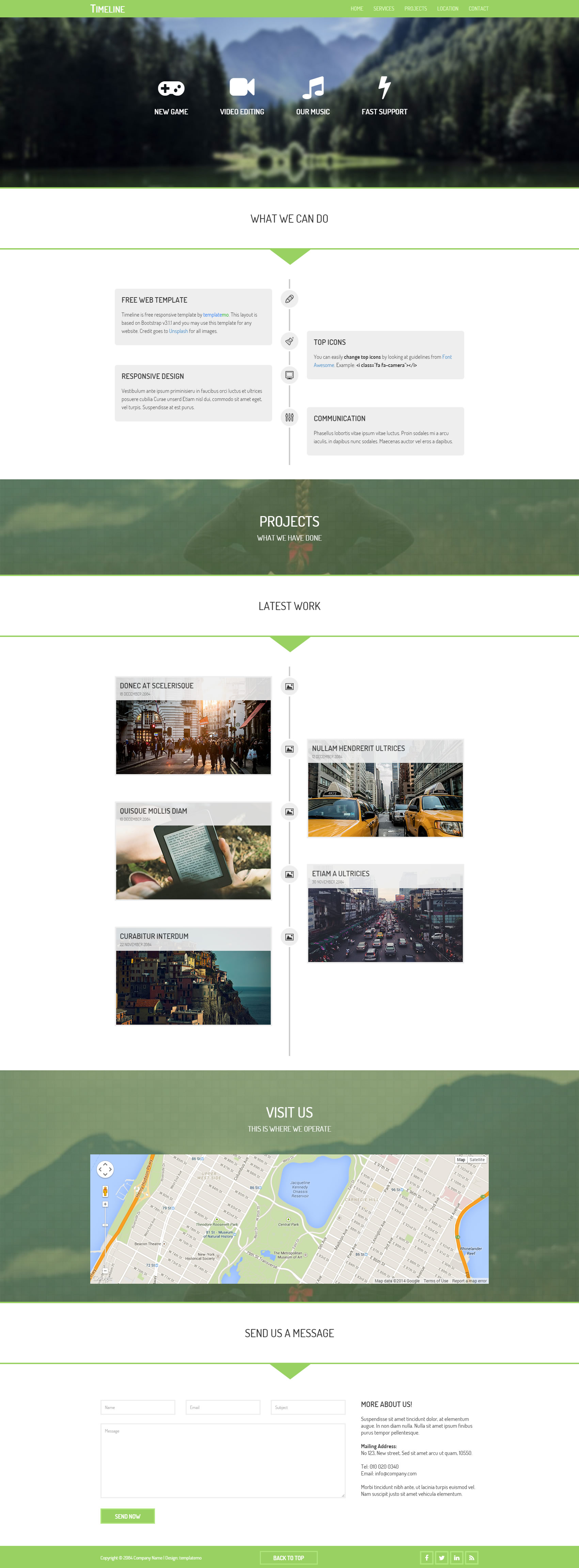 Timeline Template Free And Premium Website Templates Themes - Timeline website template
