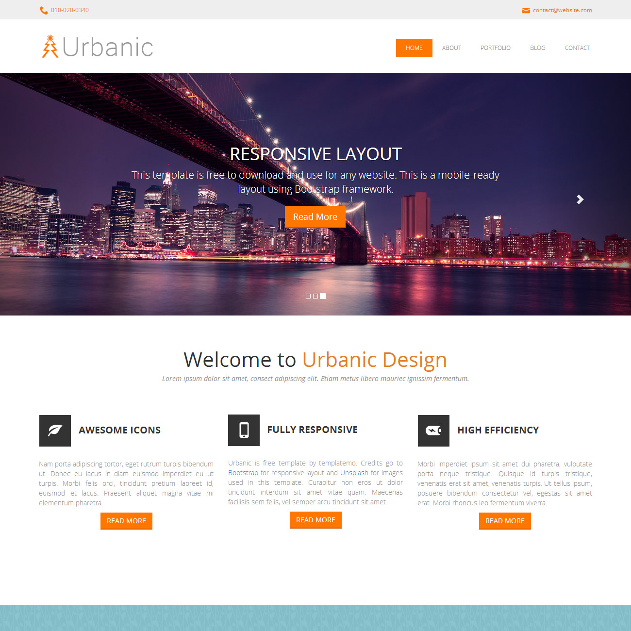 Urbanic Template Free And Premium Website Templates Themes